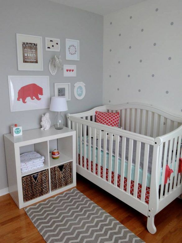 Grey polka dot wall decals, kids room style ideas, decals for kids rooms
