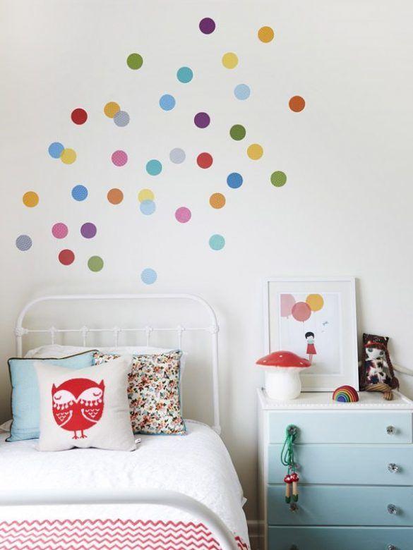 rainbow-polka-dot-wall-stickers