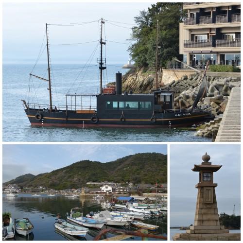 Tomonoura. Bottom right : Joyato Lighthouse