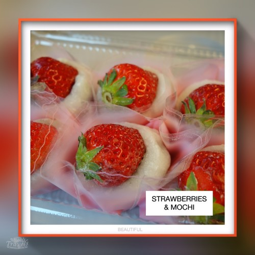 Strawberries wrapping in Mochi