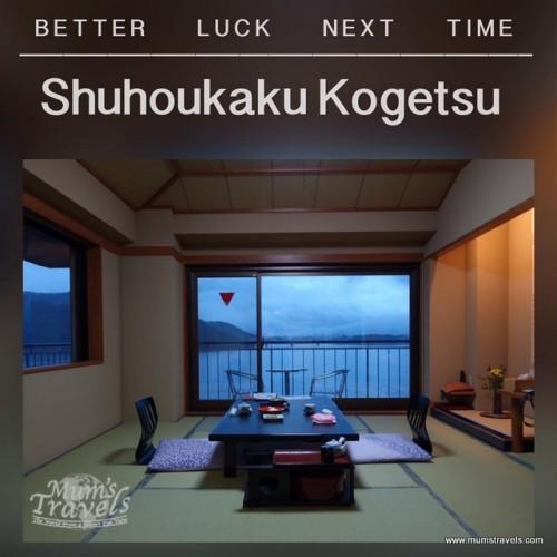 Our Mt Fuji & Lake view room at Shohokaku Shogetsu, a pity My Fuji was hidden behind clouds