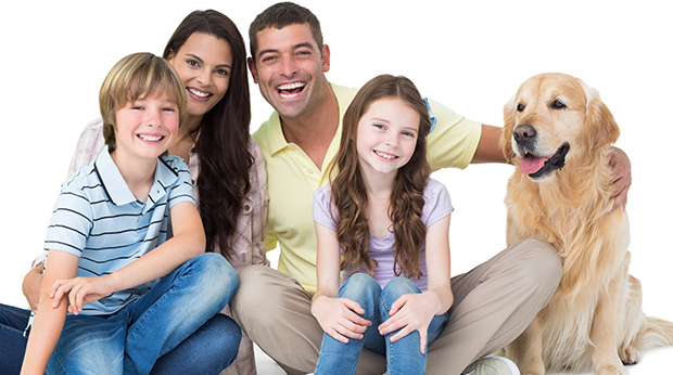 A dog with his family. DogDelite.com