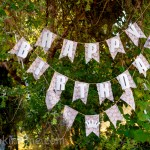DIY Burlap & Lace Shabby Chic Frozen Birthday Banner