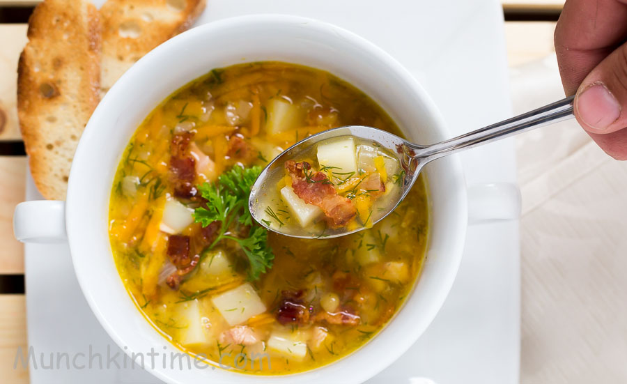 Split Pea Soup With Smocked Turkey Wing