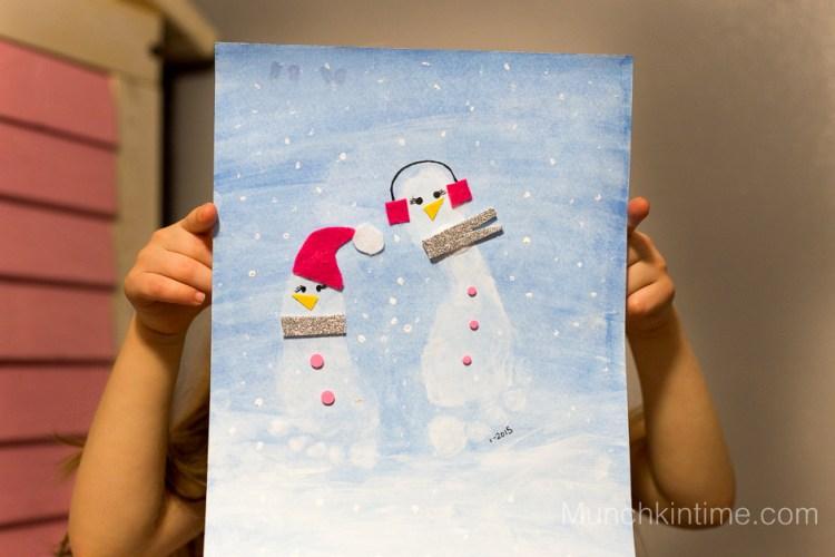 Snowman Footprint Craft Book Activity