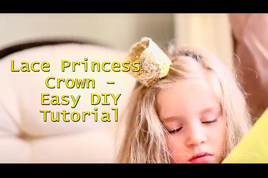 Lace Princess Crown - Easy DIY Video Tutorial