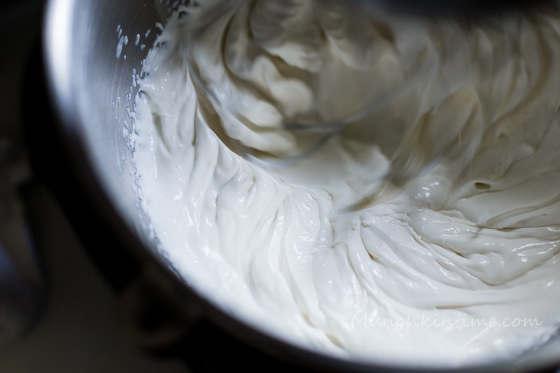 To make a sour cream frosting mix sour cream with butter and vanilla extract after it thickens add heavy whipping cream.  Mix again until thick cream.