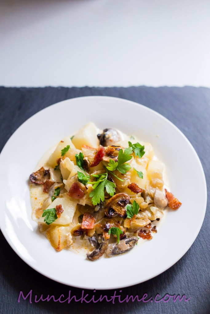 #Potato #Mushroom #Casserole with Caramelized #Onions