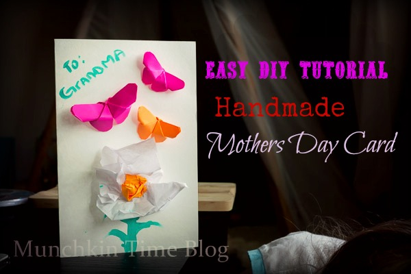 Easy DIY Tutorial: Handmade Mothers Day Card #mothersdaycard #mothersdaygift