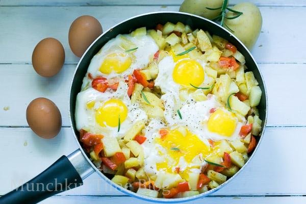 Simply Delicious Potato Hash and Eggs Breakfast Recipe