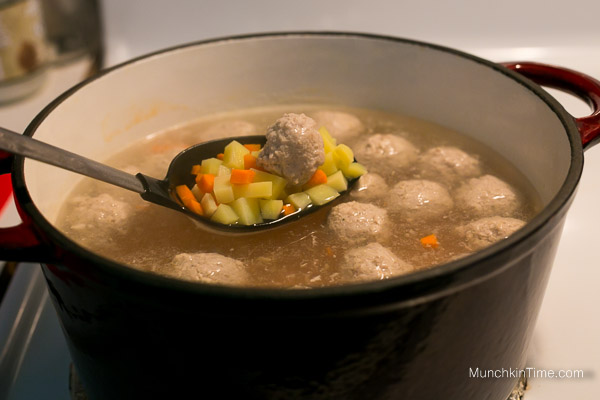 Chicken Meatball Soup Recipe from www.munchkintime.com #souprecipe