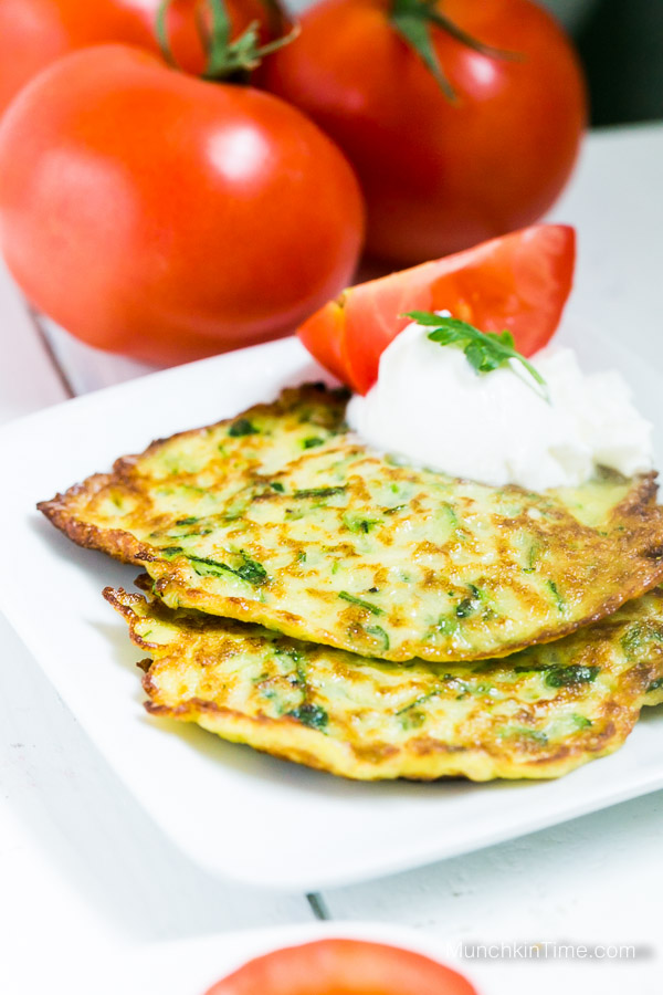 Delicious Zucchini Pancakes Recipe from www.munchkintime.com