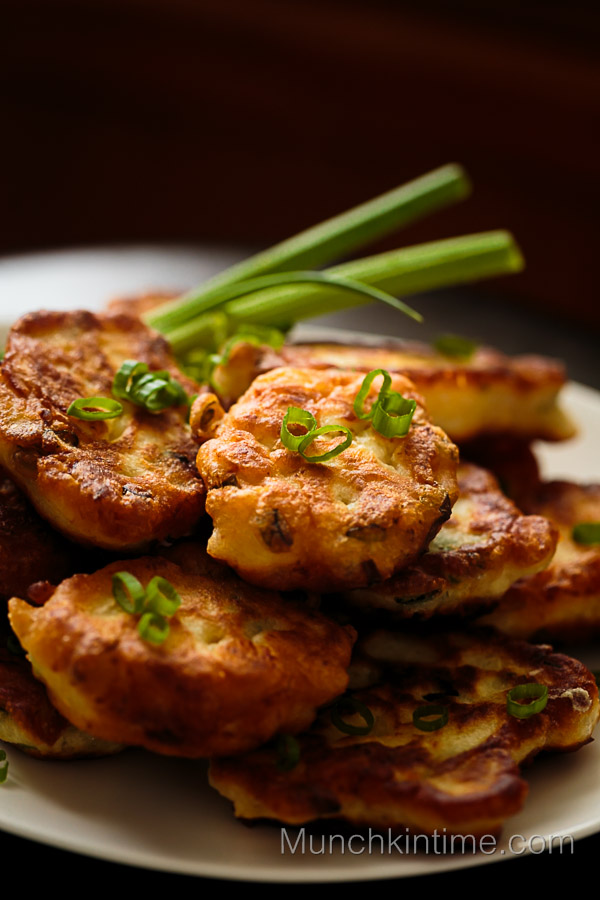 Fried Chicken Cutlets with Green Onion // www.munchkintime.com