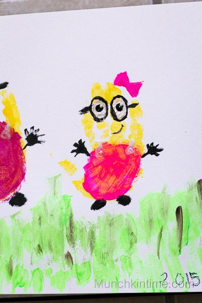 Girl Minions Handprint Art from www.munchkintime.com-16