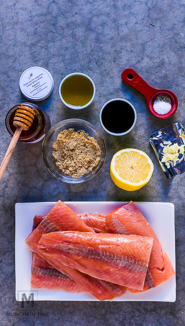 Honey Glazed Salmon Recipe juicy and so delicious! #honeyglazedsalmon #salmonrecipes -- www.munchkintime.com