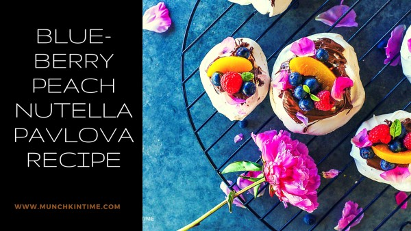 Blueberry Peach Nutella Pavlova Recipe