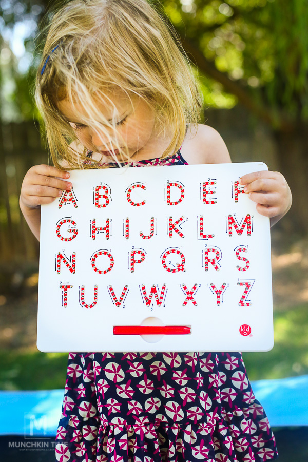 A to Z Magnatab Fun Alphabet Tablet for Toddlers from Timberdoodle