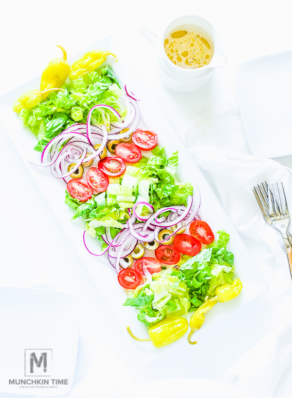 Easy and Super Delicious Italian Salad Recipe #TasteofItaly - MunchkinTime.com