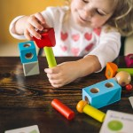 Haba Brain Builder Peg Set – Wooden Building Blocks