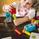 Haba Brain Builder Peg Set – Wooden Building Blocks