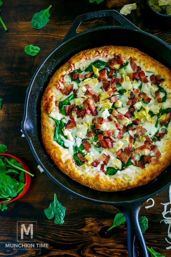 Bacon Spinach Artichoke Pizza Recipe - It Is So Good!!!