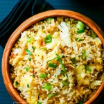 Easy Fried Rice Recipe with Eggs and Green Onion