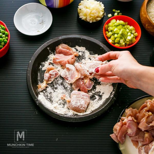 Easy Chicken Thighs Spanish Rice Recipe - an easy dinner idea!