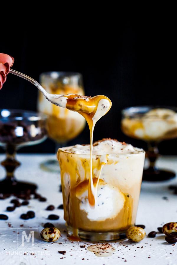 Italian Dessert Coffee Ice Cream Affogato Recipe - Munchkin Time