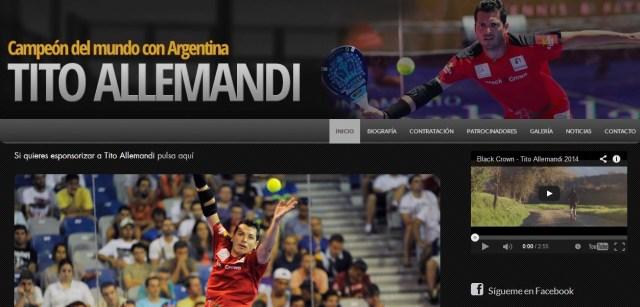 Tito Allemandi estrena página web
