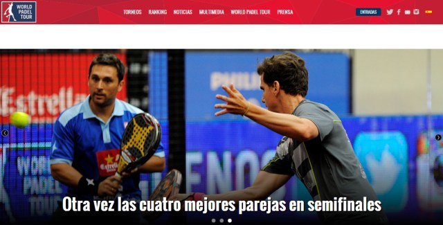 Renovación página web World Padel Tour