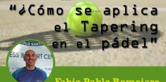 Fabio Pablo Romojaro Tapering en el pádel