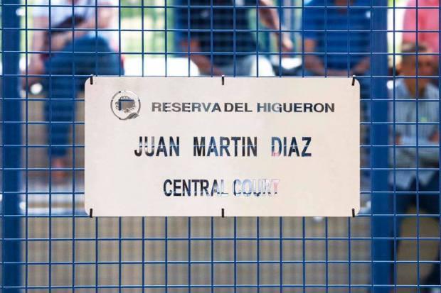 Pista central homenaje a Juan Martín Díaz