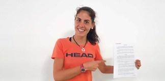 Ángela Caro renueva con HEAD