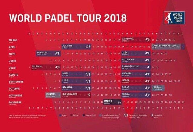 Calendario World Padel Tour 2018