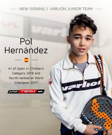 Pol Hernández ficha por Varlion