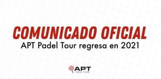 APT Padel Tour aplazado a 2021