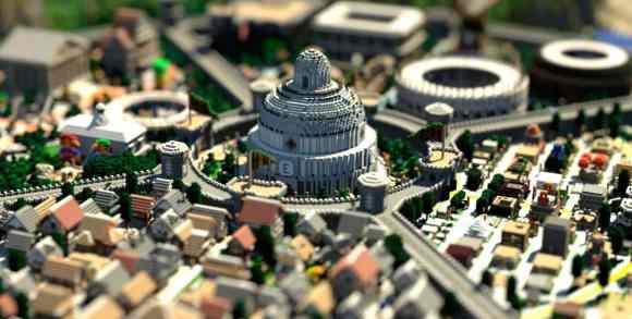 Imagen renderizada del Spawn del servidor en la comunidad mundo-minecraft