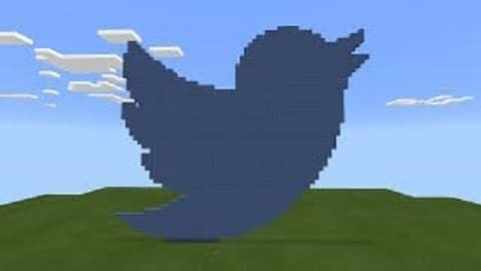 pixelart de twitter en minecraft