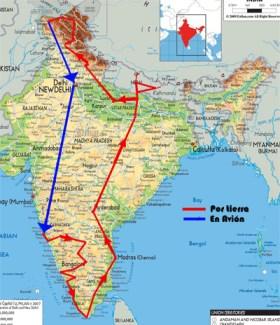Mapa-de-la-ruta-por-India
