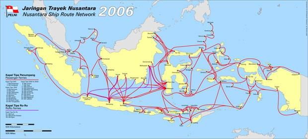 mapa de barcos de Indonesia
