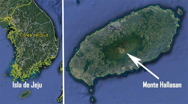 Mapa de la isla de Jeju