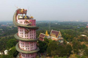 El Wat Samphran, el oscuro Templo del Dragón en Tailandia