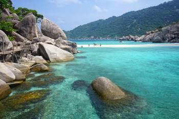 Koh Nang Yuan, una de las playas más bonitas de Tailandia