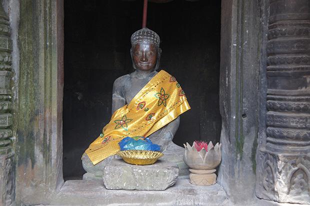 Figura de Buda en Angkor