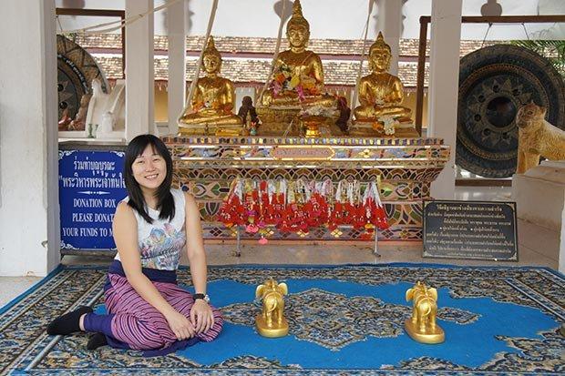 Comportamiento en templos de Tailandia