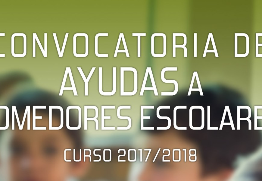 Ayuda en especie Comedor Escolar 2017-2018