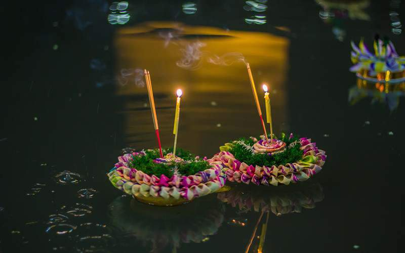 Example of a krathong