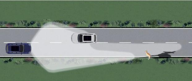 """Volkswagen sistema de control de iluminación para evitar encandilar a los conductores que vienen de frente """"dynamic light assist"""""""
