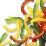Pimentão vermelho, verde e amarelo