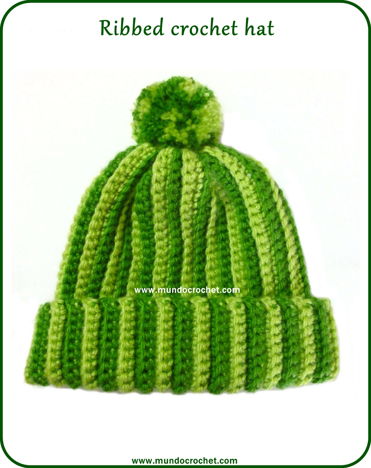 a794329c3ed Crochet ribbed hat. The readers of our Facebook page ask for this pattern